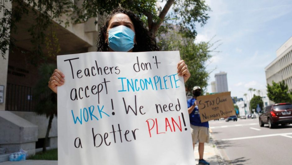 Parents in a school district in Georgia, are demanding in-person classes. But hundreds of employees have tested positive or been exposed to COVID-19, revealing the biggest blind spot in the fight to reopen schools