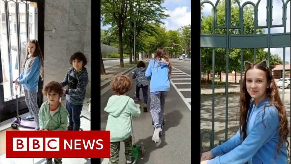 Coronavirus: Spain eases lockdown measures to allow children outside – BBC News