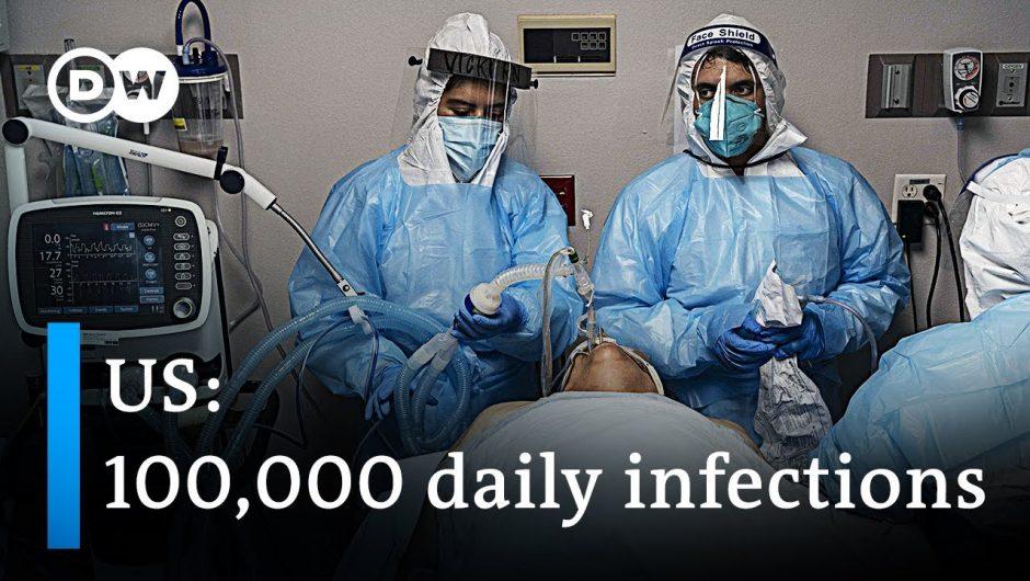 US breaks 24-hours coronavirus record   DW News